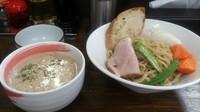 「【期間限定】クラムチャウダーつけ麺」@麺屋庄太 津久井浜店の写真