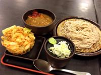「朝食セットA(360円)にかき揚げ(クーポン)」@ゆで太郎 小松川店の写真