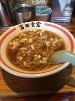 「かけ 500円」@松戸中華そば 富田食堂の写真