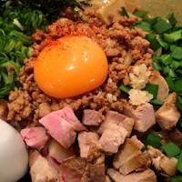 「極まぜそば  〆ご飯付  800円」@麺道 しゅはり 六甲道本店の写真