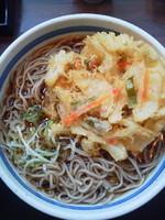 「天ぷらそば(大盛サービス)\420」@蕎麦 一心たすけ 日本橋店の写真