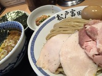 「濃厚特製つけ麺(大)、炙りバラチャーシュー、のり」@松戸富田製麺 ららぽーとTOKYO-BAY店の写真