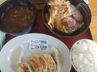 「和風魚介つけ麺780円&餃子350円(クーポンで無料)」@中華そばつけ麺 魚介の達人 久兵衛 取手店の写真