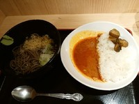 「冷やし朝定食カレー390円」@よもだそば 銀座店の写真
