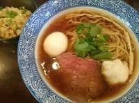 「【nijiの日限定】牛と真鯛の醤油そば+鯛めし=¥1200」@麺処 ほん田 nijiの写真