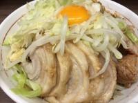 「小ラーメン+汁なし+ニンニク」@ラーメン二郎 横浜関内店の写真