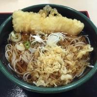 「かけ(¥320)+イカ天(クーポン)」@ゆで太郎 関内ベイスターズ通り店の写真