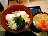 「朝定食カレー350円」@蕎麦 さだはる 西新橋店の写真