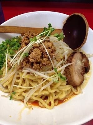 「汁なし極坦々麺(大盛)」@極 担々麺 真空の写真