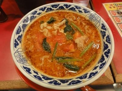 「トマトらーめん」@九州らーめん 亀王 西中島店の写真