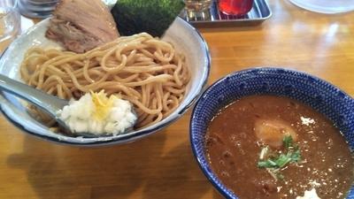 「濃厚辛つけ麺+味玉」@麺屋 海心の写真