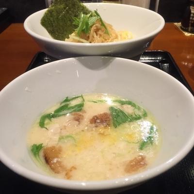 「塩白湯つけ麺(¥750)」@ガッツリつけ麺 赤坂見附店の写真