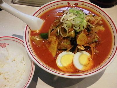 「五目味噌タンメン+無料ライス」@蒙古タンメン中本 秋津店の写真