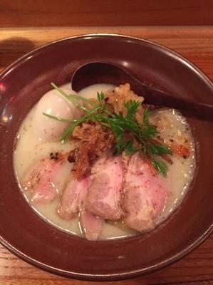 「白湯 鶏たいたんそばDX(1000円)」@龍旗信 京都店の写真