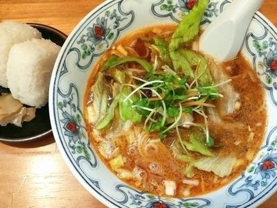 「担々麺(おにぎり付きセット)」@中華屋台 潤の写真