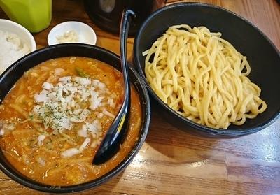 「辛味噌トマトカレーつけ麺 \980」@麺処 花田 上野店の写真
