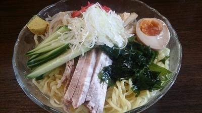 「丸哲中華涼麺(730円)+大盛り(100円)」@拉麺 丸哲の写真