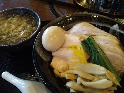 「【限定】鶏と煮干しの淡麗つけそば 800円+味玉サービス」@さくら木の写真