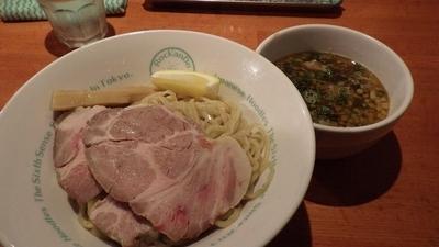 「限定 煮干醤油つけそば」@麺屋 六感堂の写真
