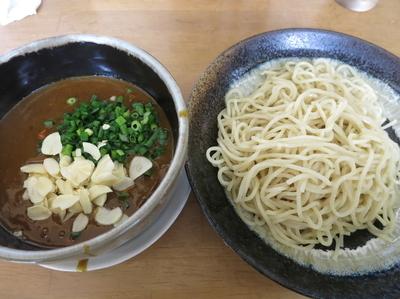 「スタミナ大蒜カレー (つけ麺 細)  1100円」@MENYA 食い味の道有楽の写真