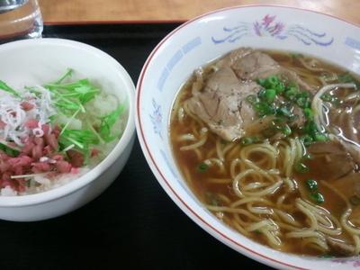 「よくばりラーメンセット」@道なか食堂 げんきの写真