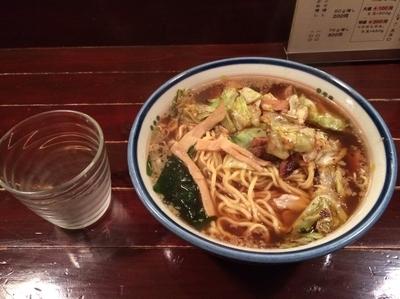 「焼キャベツラーメン」@東京ラーメン つなふじの写真