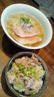 「限定30食『太刀魚煮干の塩冷やし(¥900)』」@町田汁場 しおらーめん 進化の写真