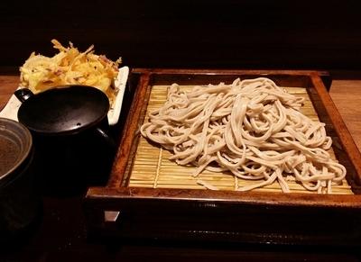 「かき揚げ天そば(冷)」@十割蕎麦 さ竹の写真