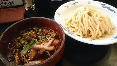 「つけ麺(醤油 鶏) 750円」@麺家 うえだの写真