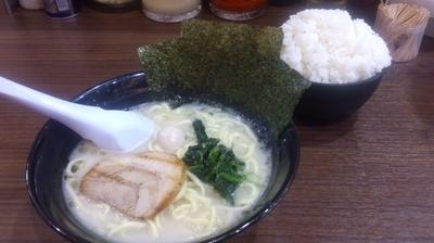 「塩ラーメン(麺硬め・味濃いめ)+ライス(サービス)」@横浜家系らーめん 魂心家 藤沢店の写真