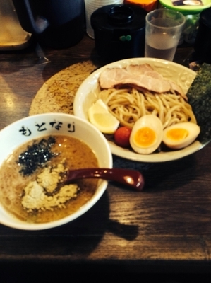 「濃厚海老つけ麺SP 1080円?だったかな」@麺や偶 もとなり 久茂地店の写真