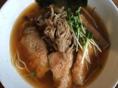 「【限定】秋鮭とキノコソバ 700円」@ラーメン 和なりの写真