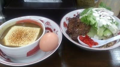 「【期間限定】濃厚豚骨カレーつけ麺」@麺屋庄太 津久井浜店の写真