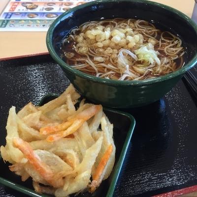 「かけ(¥320)+かき揚げ(クーポン)」@ゆで太郎 いわき鹿島店の写真