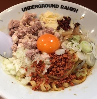 「【夜の部限定】カレーまぜそば ¥830」@UNDER GROUND RAMENの写真