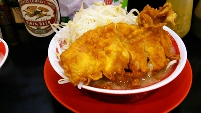 「インチキゴリラー麺+ライス&麦酒」@ラッキー食堂 まとやの写真