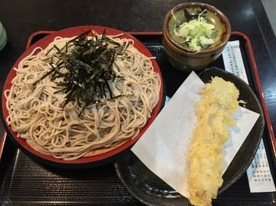 「ざるそば+穴子天ぷら(¥350+¥150)」@味奈登庵 武蔵小杉店の写真