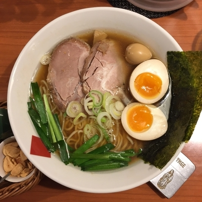 「東京駅 醤油 すたみな 中華そば+鶏油10cc」@東京の中華そば ちよがみの写真