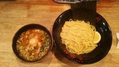 「つけ麺(並)(あつもり)+半熟玉子」@濃厚豚骨醤油ラーメン 太龍軒 恵比寿本店の写真