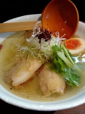 「魚介のジュあっさり塩そば」@麺屋 さんじの写真