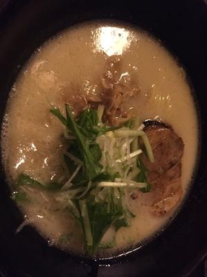 「②鶏パイタン塩」@ちょんまげ食堂 ラーメン部の写真
