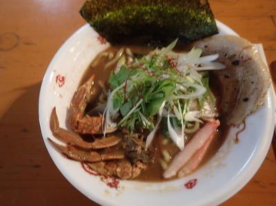 「らーめん 福たけ 渡りガニの濃厚ドロ味噌らーめん」@大つけ麺博プレゼンツ つけ麺VSラーメンの写真