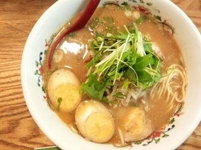 「味噌ラーメン+煮卵」@元祖ぴかいちの写真