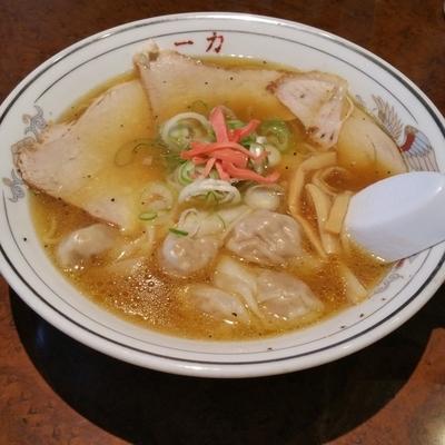 「ワンタン麺(1,000円)」@中華そば 一力 本店の写真