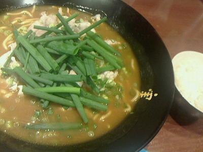 「カレー麺 ライス」@かれー麺 実之和 赤坂店の写真