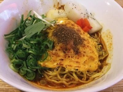 「汁なし担々麺スパイシーカレー(700円)+炙りチーズ」@汁なし担々麺 麻沙羅の写真