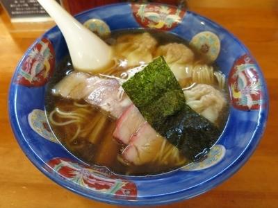 「肉ワンタン麺・ハーフ 750円 ※醤油」@支那そば 幸雲の写真