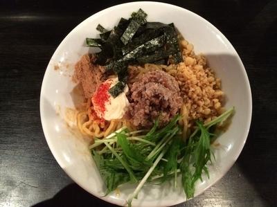 「肉味噌まぜそば」@つけ麺・ラーメン カガミハラ55の写真