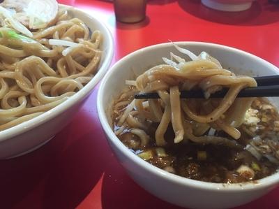 「つけ麺(中盛)&50円魚粉」@ジャンクガレッジ 吹上店の写真