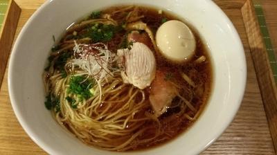 「茜鶏の中華そば」@中華蕎麦 はざまの写真